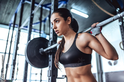 Photo sur Toile Fitness Sporty woman in gym