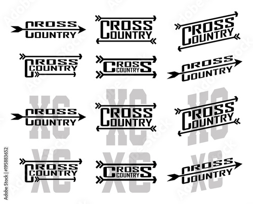Cross Country Designs is an illustration of twelve designs for cross country runners in schools, clubs and races. Great for t-shirt, flyers and school designs. Wall mural