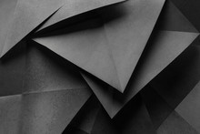 Geometric Shapes Made Gray Paper, Abstract Background