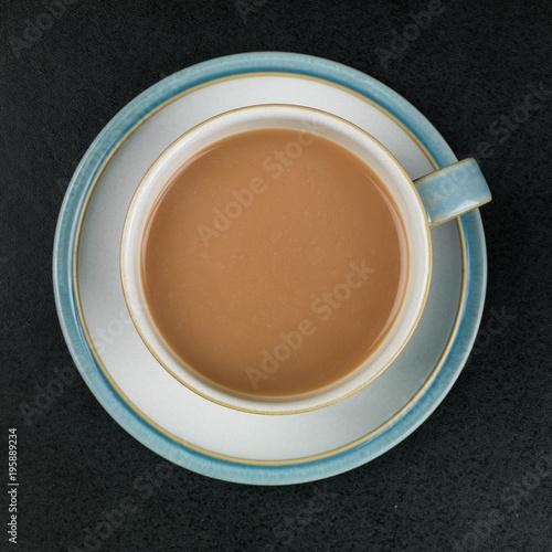 Fényképezés  A Cup Of White Tea Or Coffee