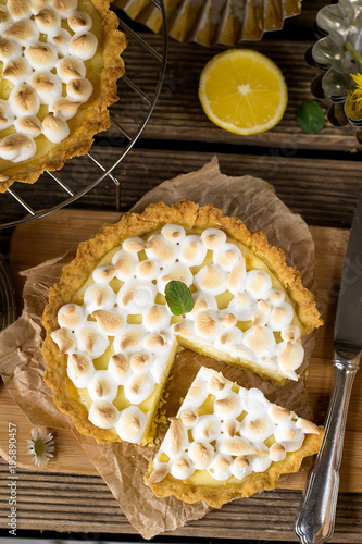 Plakat Słodka cytryna pie beza na deser