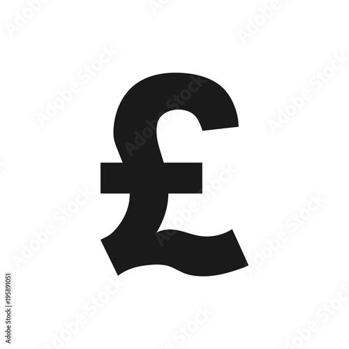 Pound icon, finance sign. Vector illustration. Flat design.