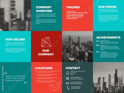 Fotografie, Tablou  Company profile template