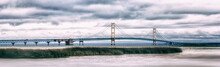 Mackinac Bridge Panorama. Icon...