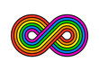 Illustration of infinity rainbow design