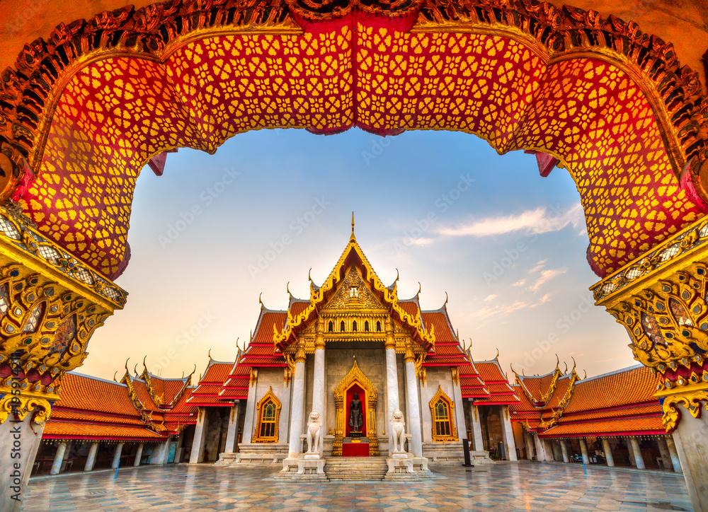 Fototapety, obrazy: Wat Benchamabophit Dusit Wanaram, Bangkok, Thailand