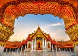 Fototapeta Nowy Jork - Wat Benchamabophit Dusit Wanaram, Bangkok, Thailand