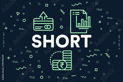 Valokuva  Conceptual business illustration with the words short