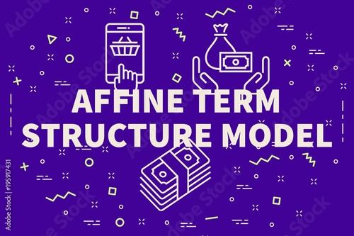 Conceptual business illustration with the words affine term structure model Canvas Print