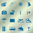 Set of icons for travel services