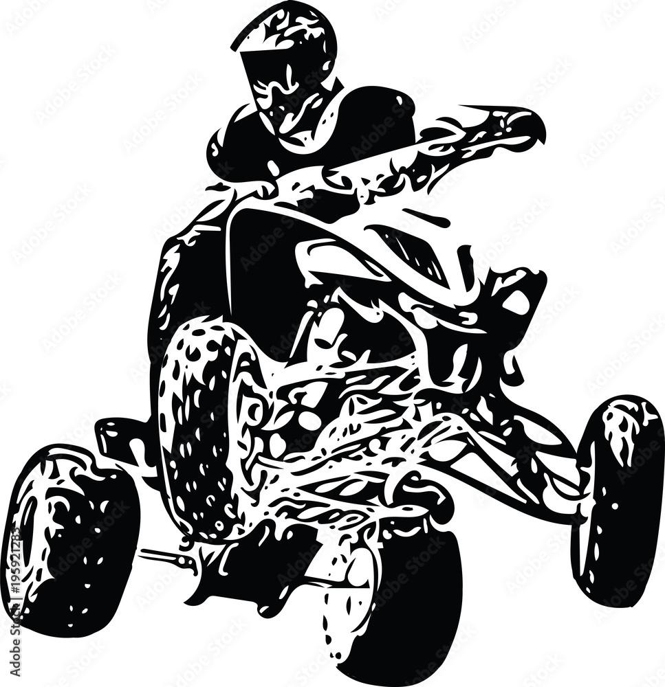 Quad Bike Illustration Obraz Na Plotnie Plakat Fototapeta Fotodruk Pl
