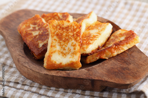 Roasted halloumi cheese