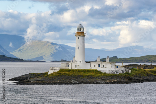 Photo Oban, Scotland / United Kingdom - Jul 09 2017: Eilean Musdile Lighthouse