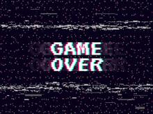 Game Over Glitch Background. R...