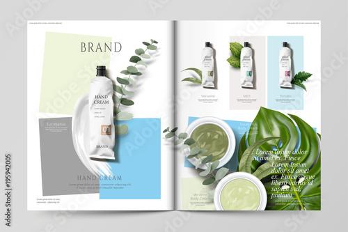 Valokuva Cosmetic magazine template