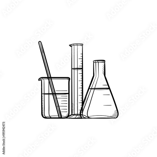 Test Draws On Doodles To Spot Signs Of >> Laboratory Equipment Hand Drawn Outline Doodle Icon Chemistry Test