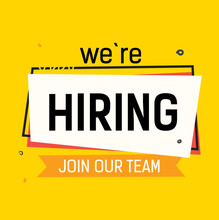 We Are Hiring Join Our Team Le...