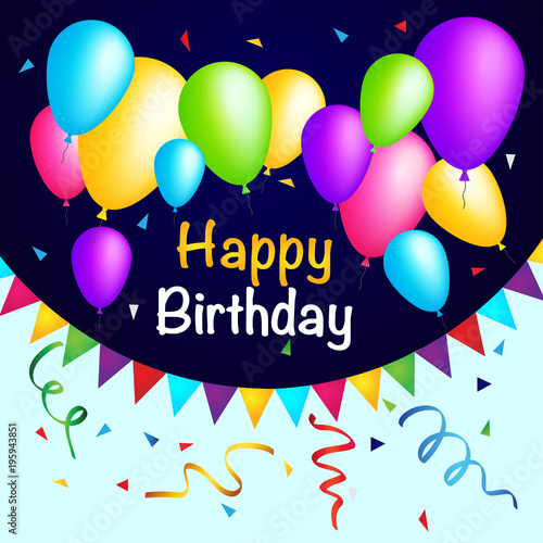 Photo  Happy Birthday Colorful Background