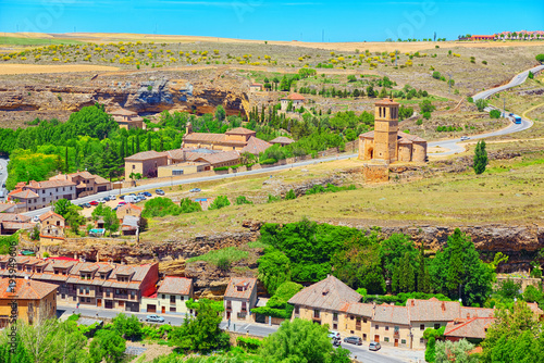 Fotografie, Obraz  Eresma Valley (Mirador Del Valle del Eresma) landscape view area