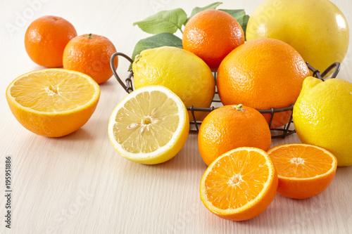 柑橘類(レモン、オレンジ、グレープフルーツ、マンダリン)集合