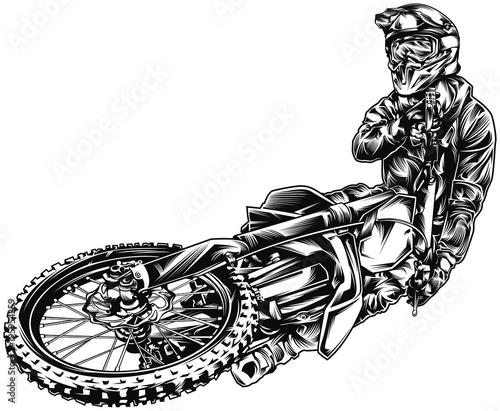 Motocross illustration Wall mural