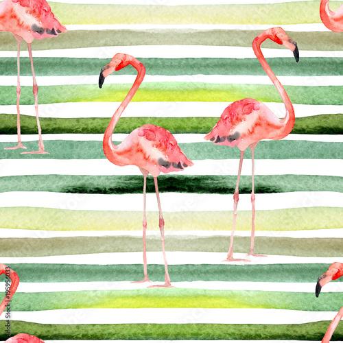 akwarela-paskuje-bezszwowego-wzor-z-flamingiem