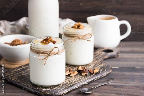 Staande foto Zuivelproducten Georgian yoghurt matsoni
