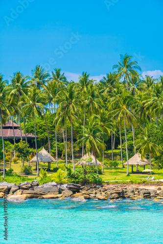 Fototapety, obrazy: Beautiful tropical beach and sea