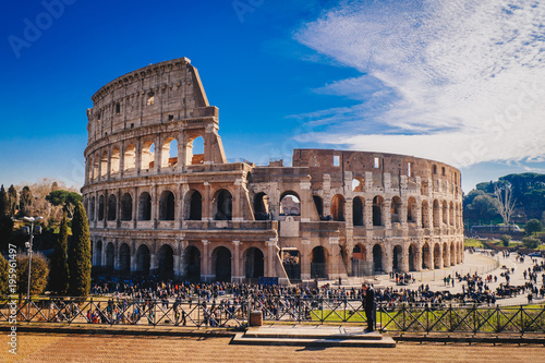 Photo The Roman Colosseum in Rome, Italy HDR image