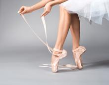 Close Up Of Ballerina Hands Pu...