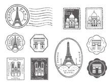 パリ スタンプセット...
