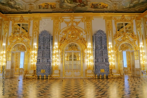 Interior of Catherine Palace a Rococo palace in Tsarskoye Selo Saint Petersburg Fototapet