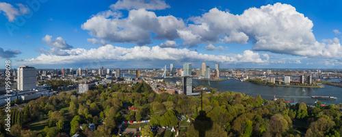 Foto auf AluDibond Rotterdam Rotterdam cityscape - Netherlands