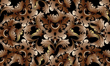 Baroque Intricate Gold 3d Seam...