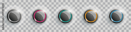 Carta da parati Colored Buttons With Halftone Transparent