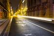 Street of old european town at night