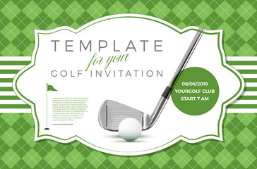 Fototapeta Template for your golf invitation with sample text
