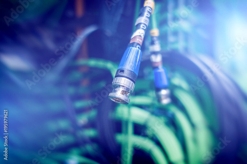 Acoustic audio cable server Green audio cable Wallpaper Mural