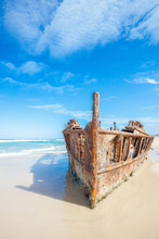 Ship Wreck On Fraser Island, A...