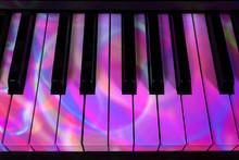 Piano And Keys In A Festive De...