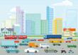 Autobahn in der Großstadt illustration