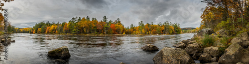Wall Murals Forest river Penobscot River Panorama