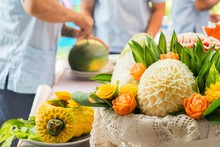 Fruit Carving Art, In Preparat...