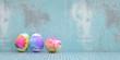Leinwanddruck Bild - Ostereier zu Ostern vor Grunge Hintergrund