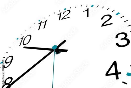 Foto Neutrale analoge Uhr - perfekt für Info zu Ihren Öffnungszeiten