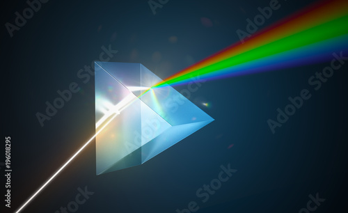 Light dispersion and refraction concept Wallpaper Mural