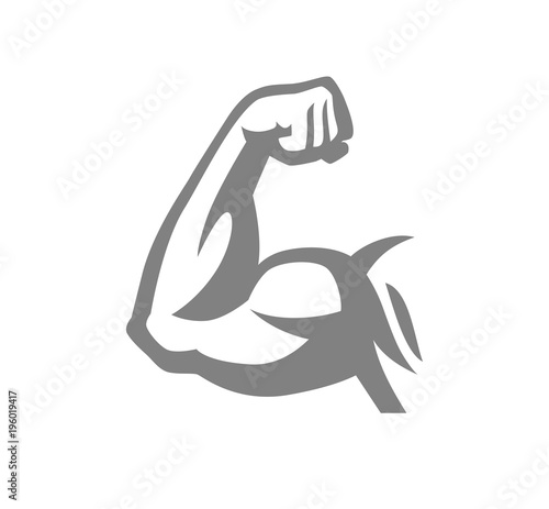 Biceps muscle arm logo Tablou Canvas