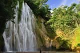 Salto de Limon the waterfall located in the centre of the tropical forest, Samana, Dominikana Republic.