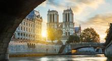 Notre Dame De Paris And Seine ...