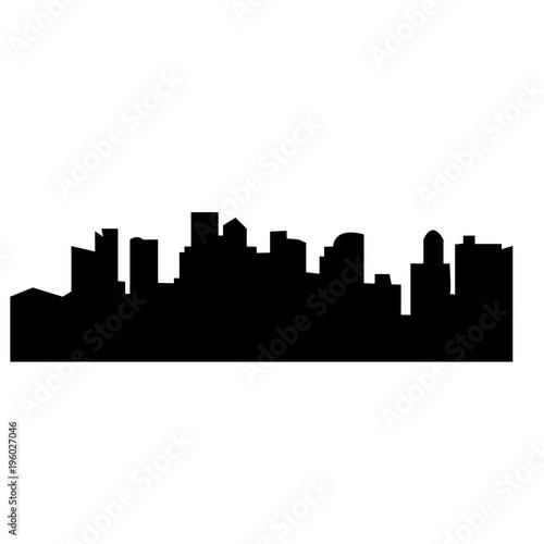 Fototapety, obrazy: black boston skyline silhouette on white background